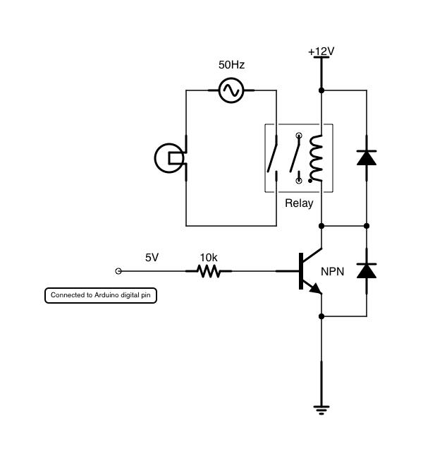 Using a v relay to switch vac tallkronan